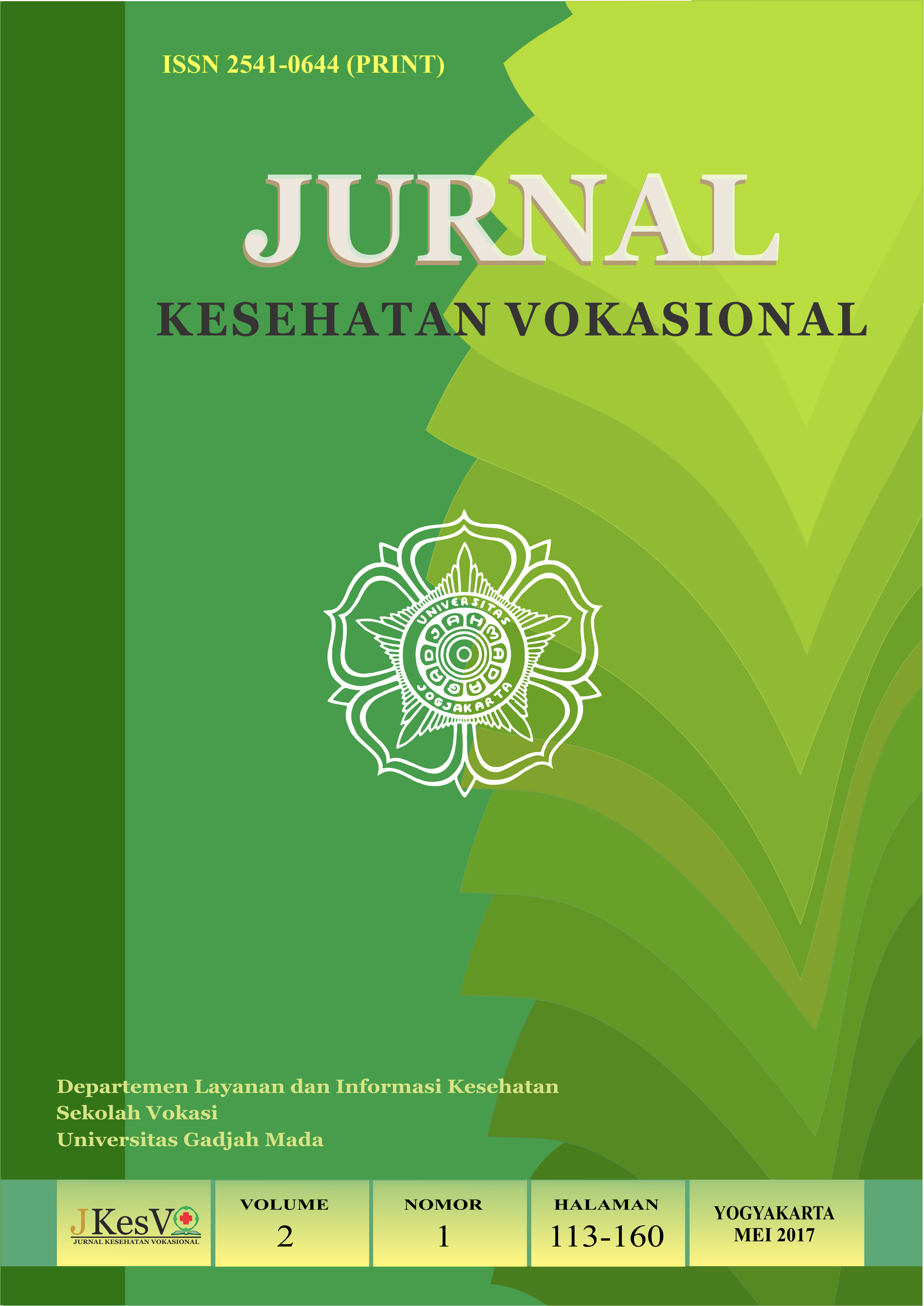 Cover Volume 2 No. 1
