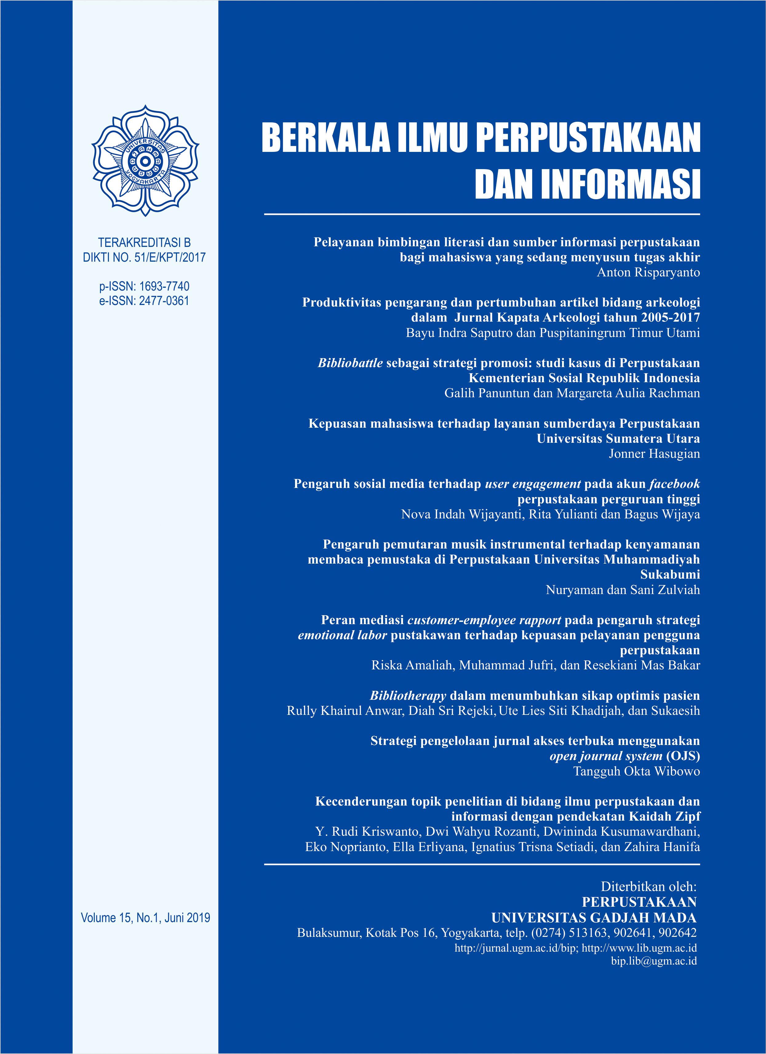 Berkala Ilmu Perpustakaan dan Informasi