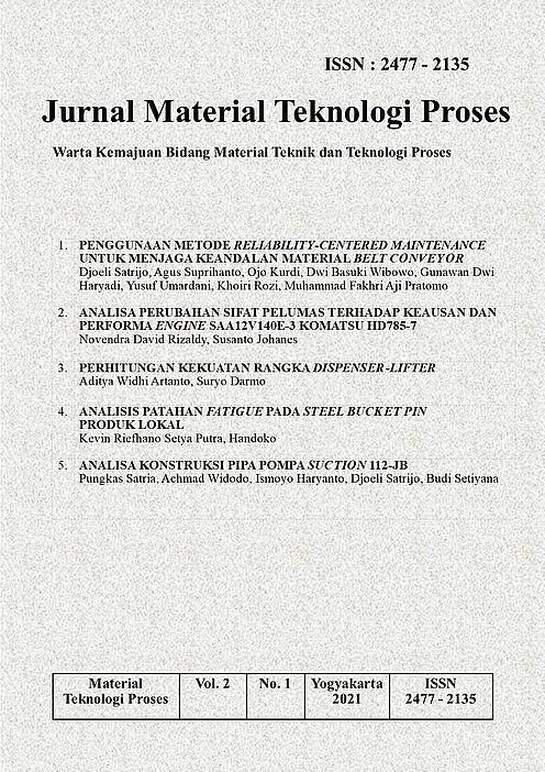 Jurnal Material Teknologi Proses Volume 2 Nomor 1 Tahun 2021 (ISSN: 2477 - 2135)